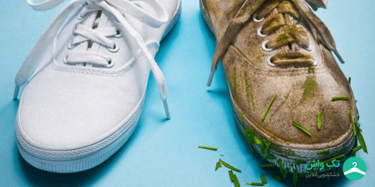 خشکشویی کفش و کتانی